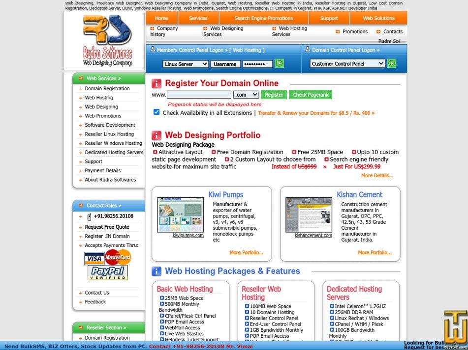 rudrasoftwares.net Screenshot