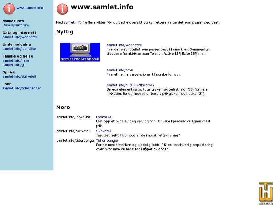 samlet.info Screenshot