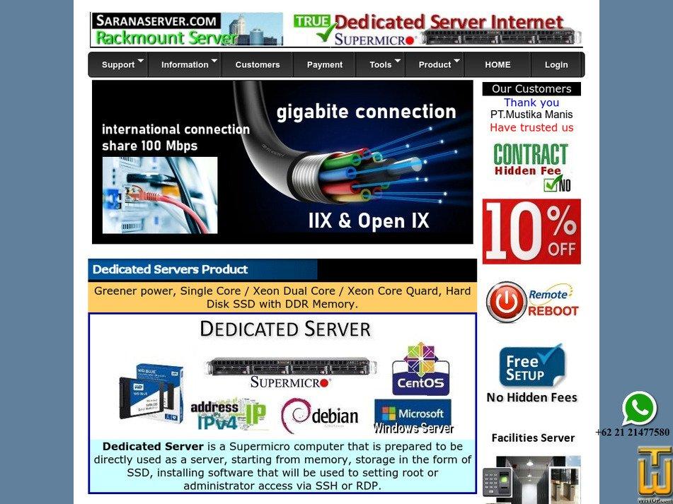 saranaserver.com Screenshot