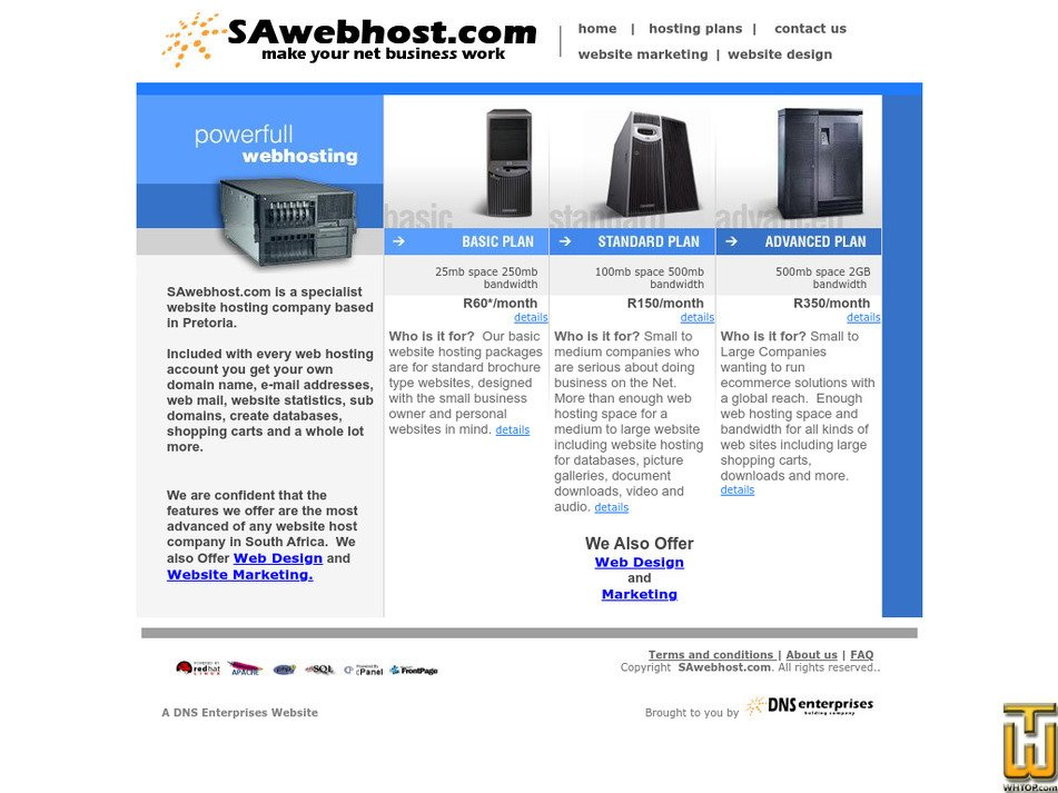 sawebhost.com Screenshot