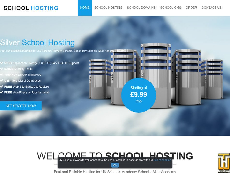 schoolhosting.co.uk Screenshot