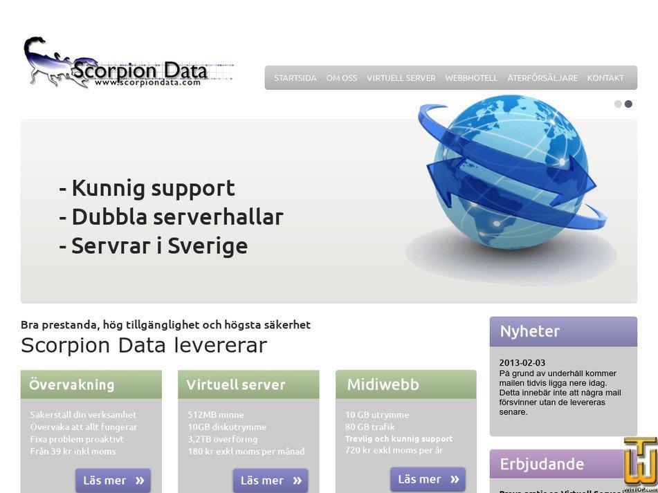 scorpiondata.com Screenshot