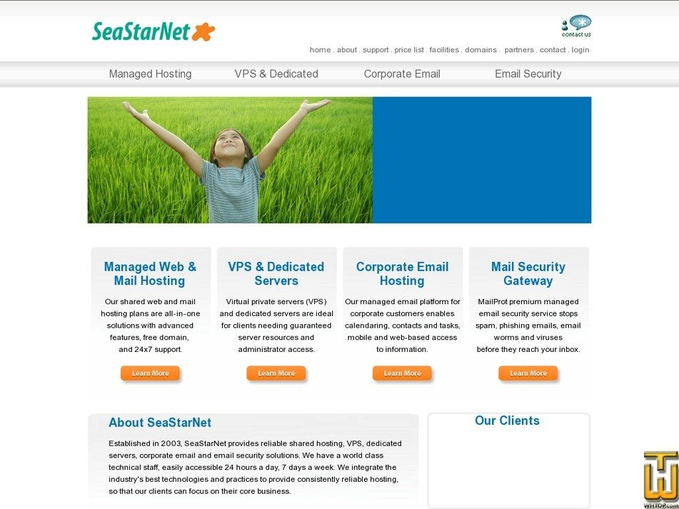 seastarnet.com Screenshot
