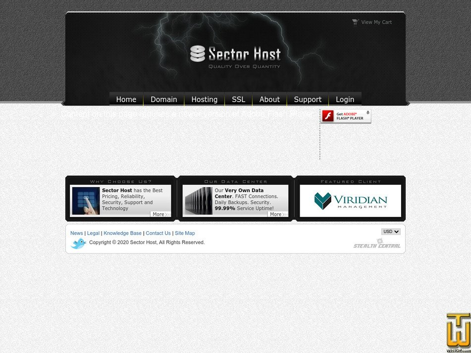 sectorhost.com Screenshot