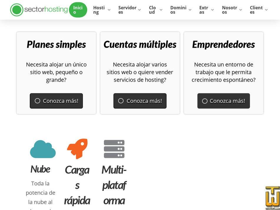 sectorhosting.com Screenshot