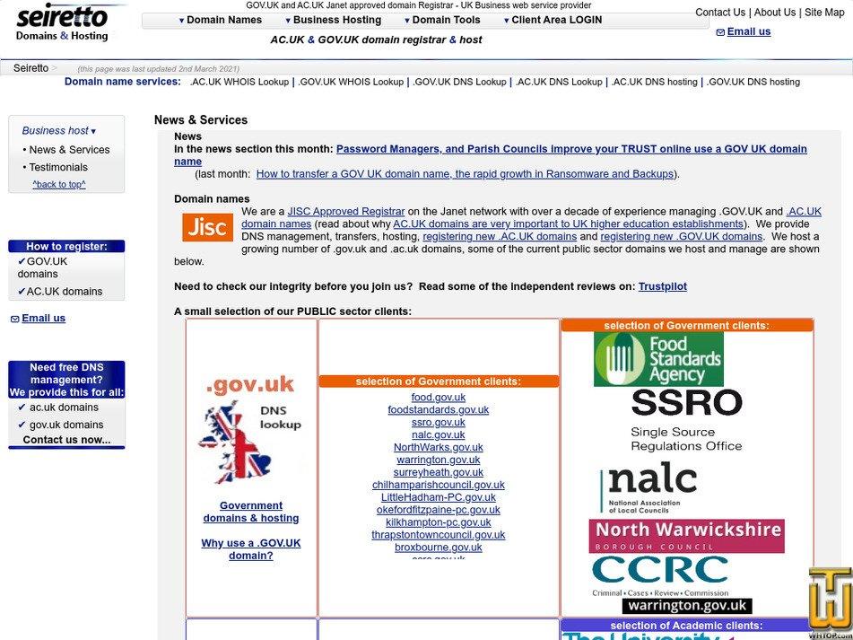 seiretto.com Screenshot