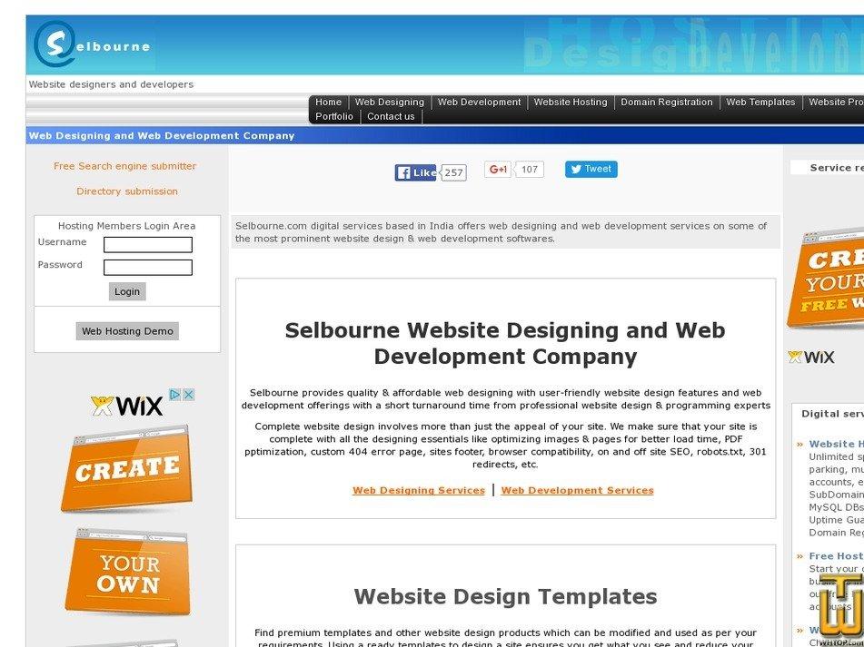 selbourne.com Screenshot
