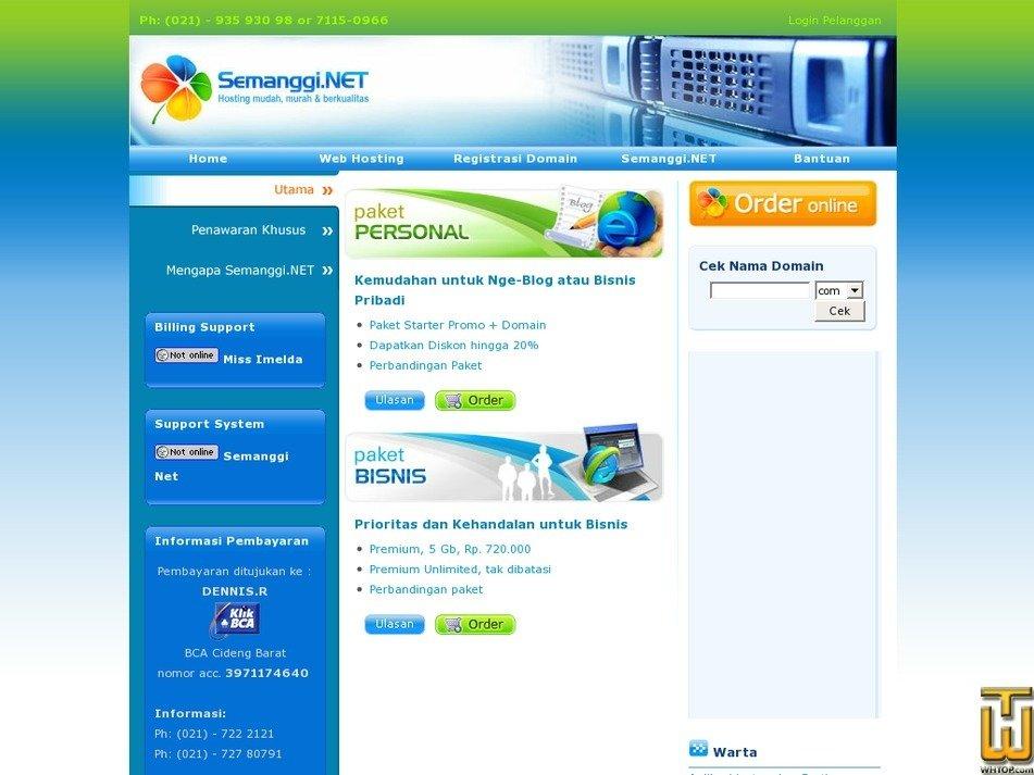 semanggi.web.id Screenshot