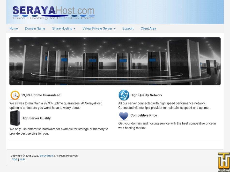 serayahost.com Screenshot