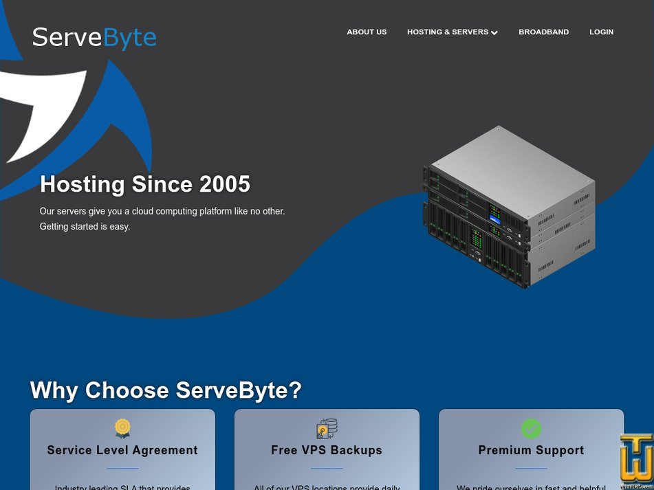 servebyte.com Screenshot