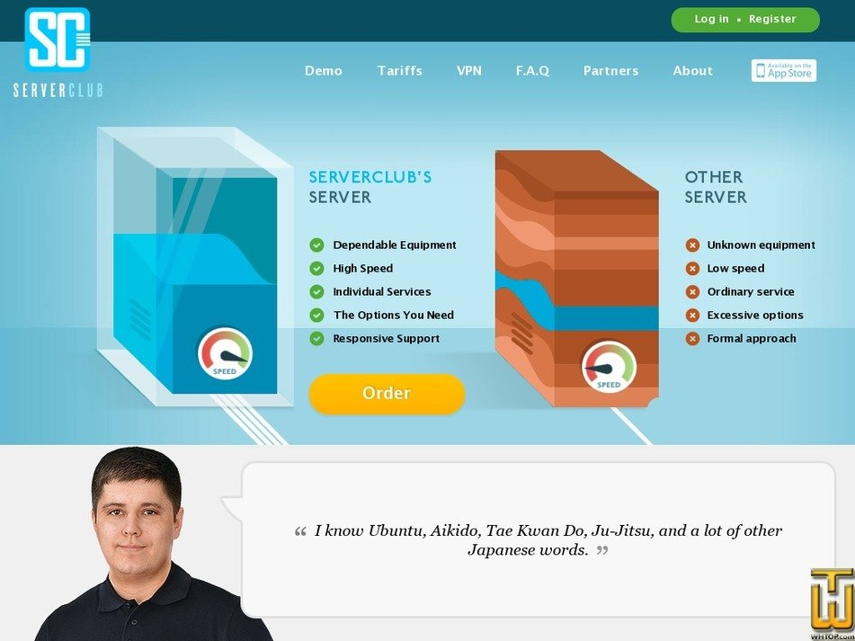 serverclub.com Screenshot