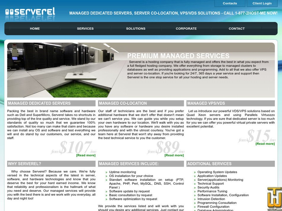serverel.com Screenshot