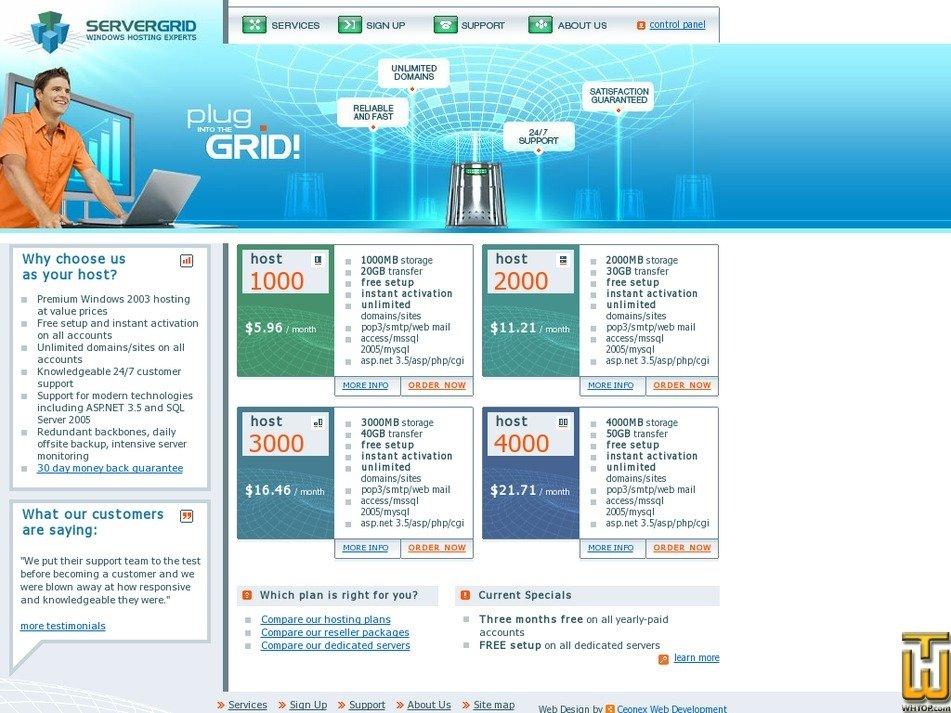 servergrid.com Screenshot