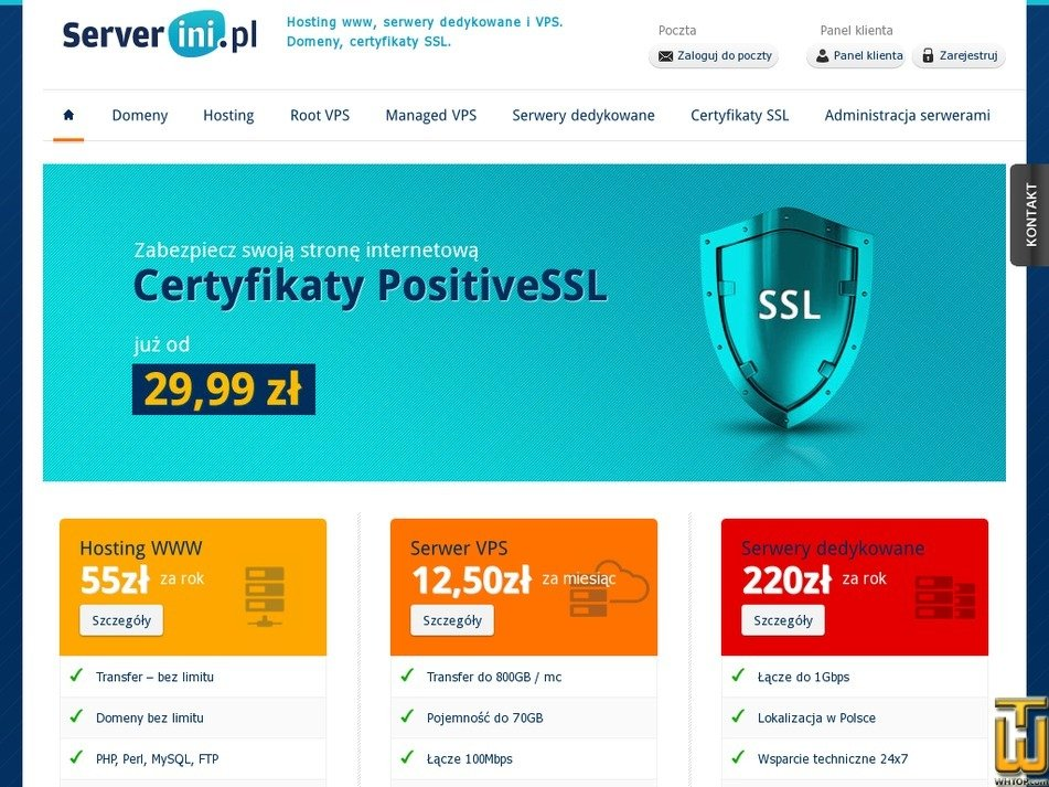 serverini.pl Screenshot