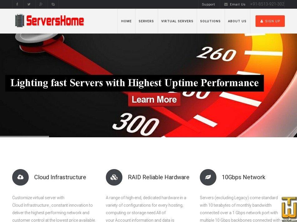 servershome.com Screenshot