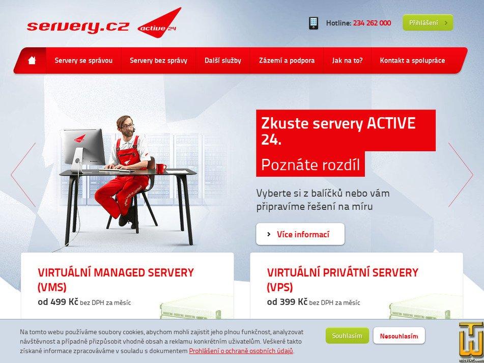servery.cz Screenshot