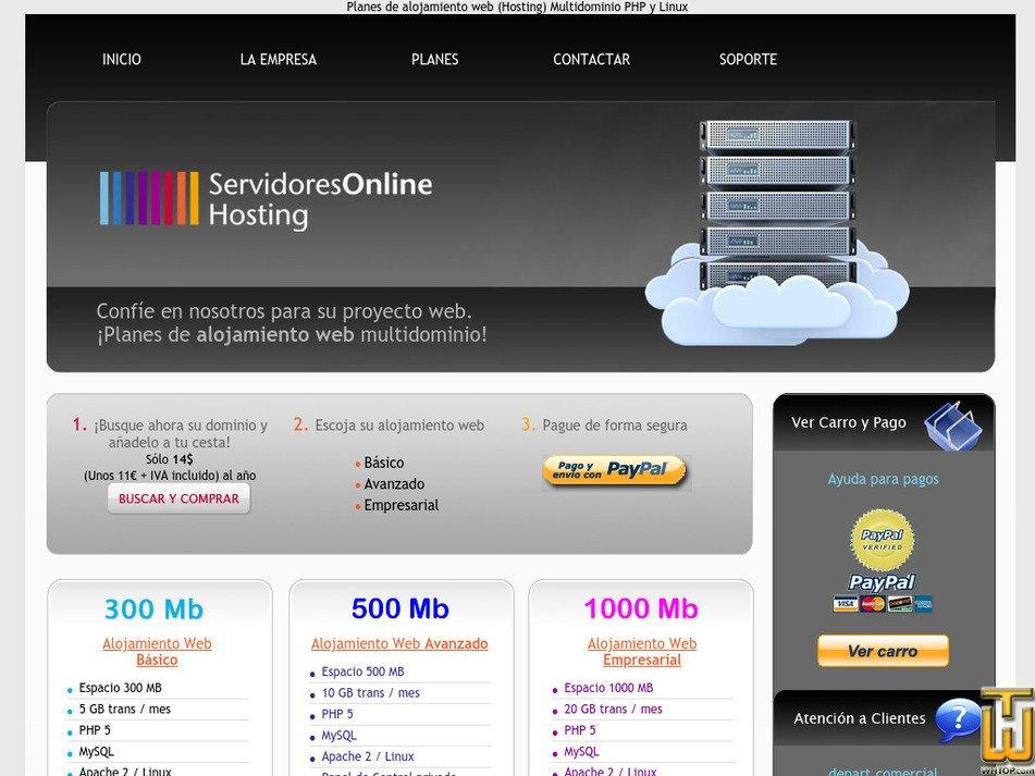 servidoresonline.com Screenshot