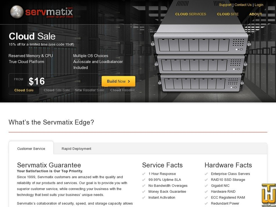 servmatixcloud.com Screenshot