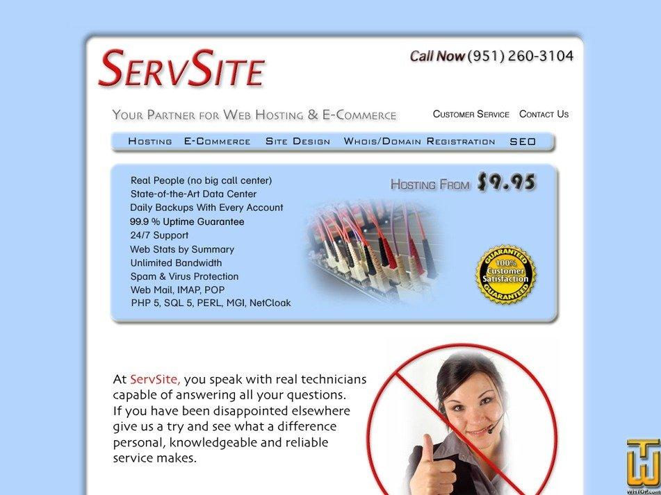 servsite.com Screenshot