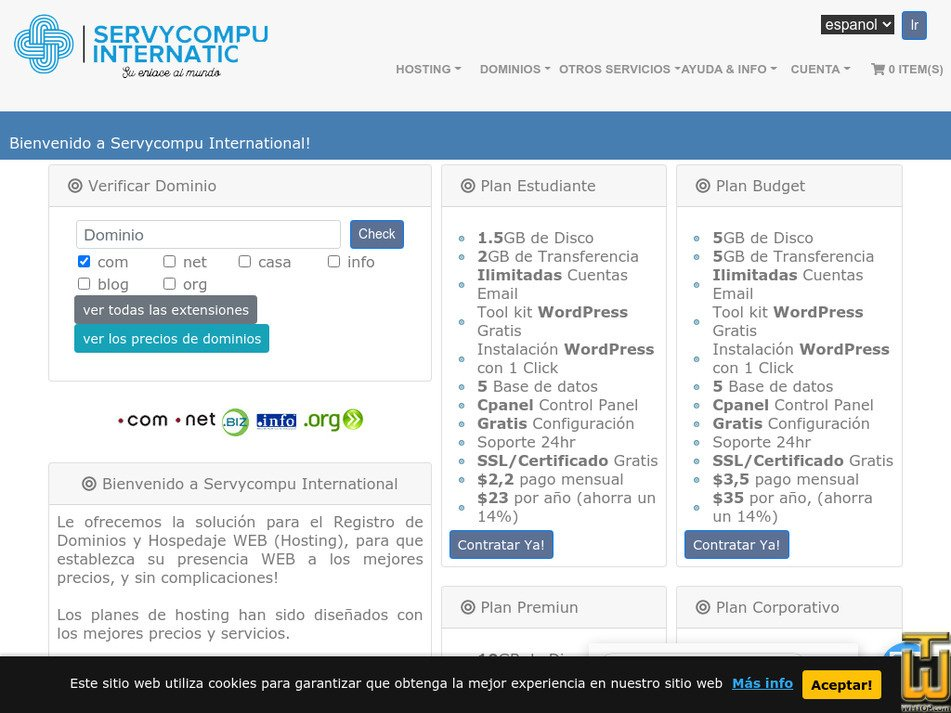 servycompu.com Screenshot