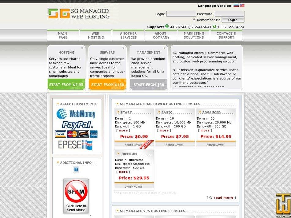 sgmanaged.com Screenshot