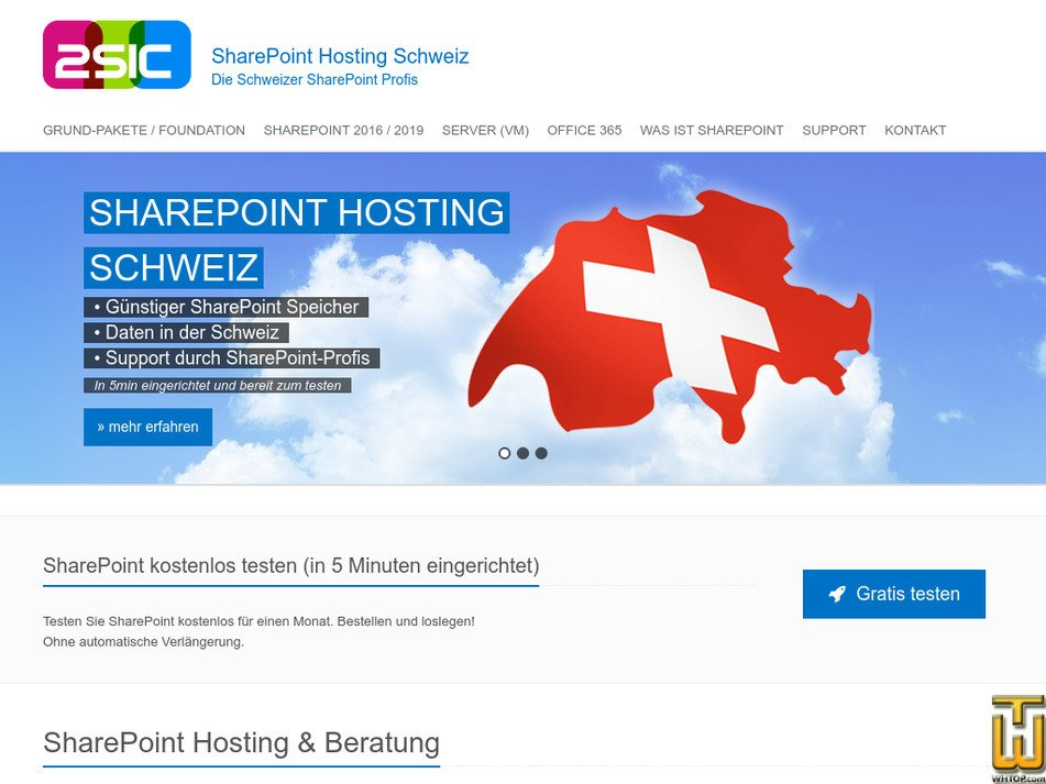sharepoint-foundation-hosting.ch Screenshot