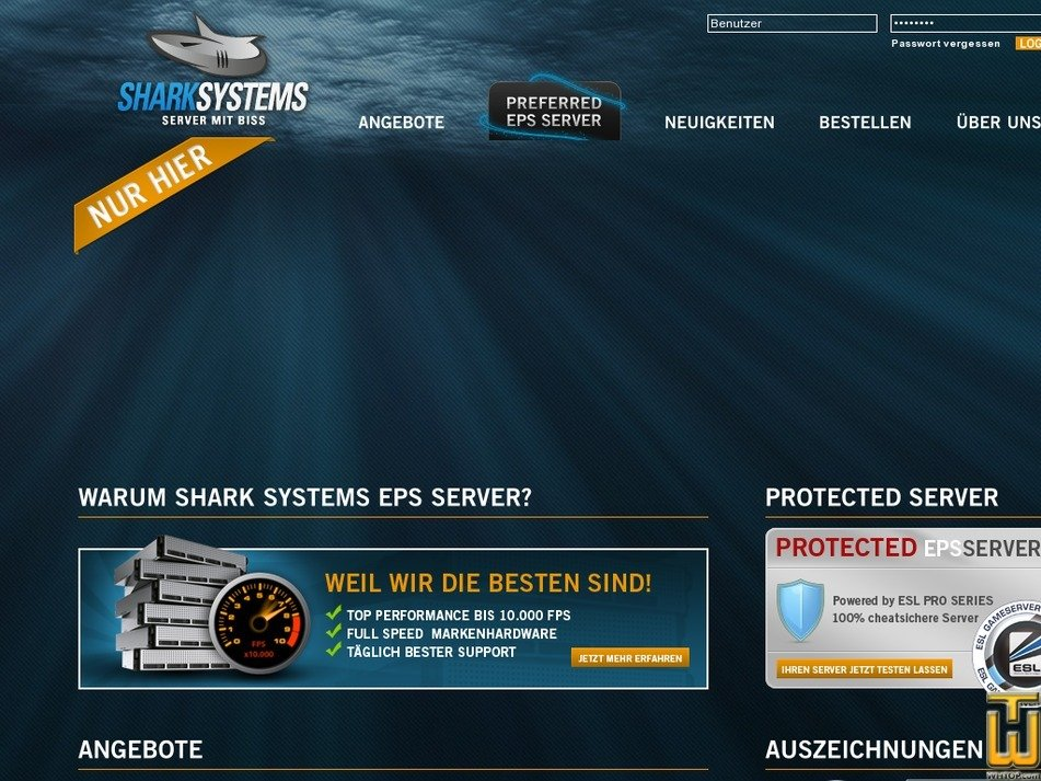 shark-systems.de Screenshot