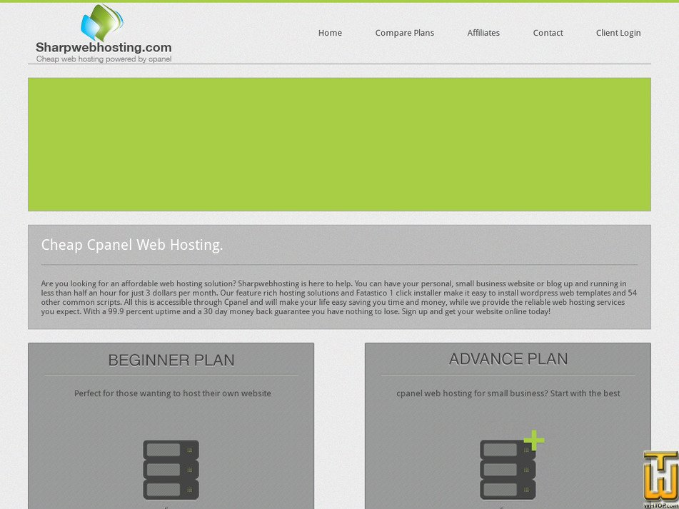 sharpwebhosting.com Screenshot