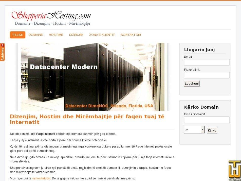 shqiperiahosting.com Screenshot