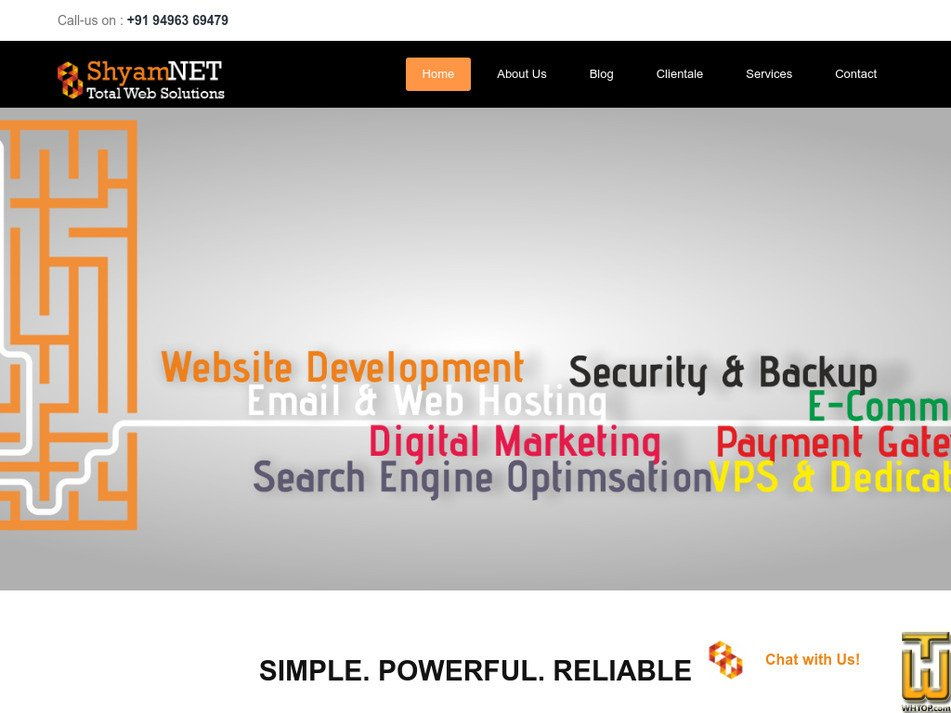 shyamnet.com Screenshot