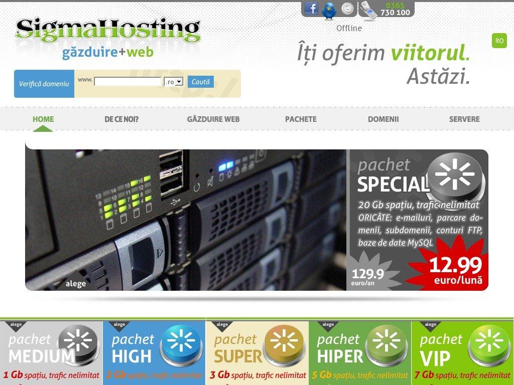 sigmahosting.ro Screenshot
