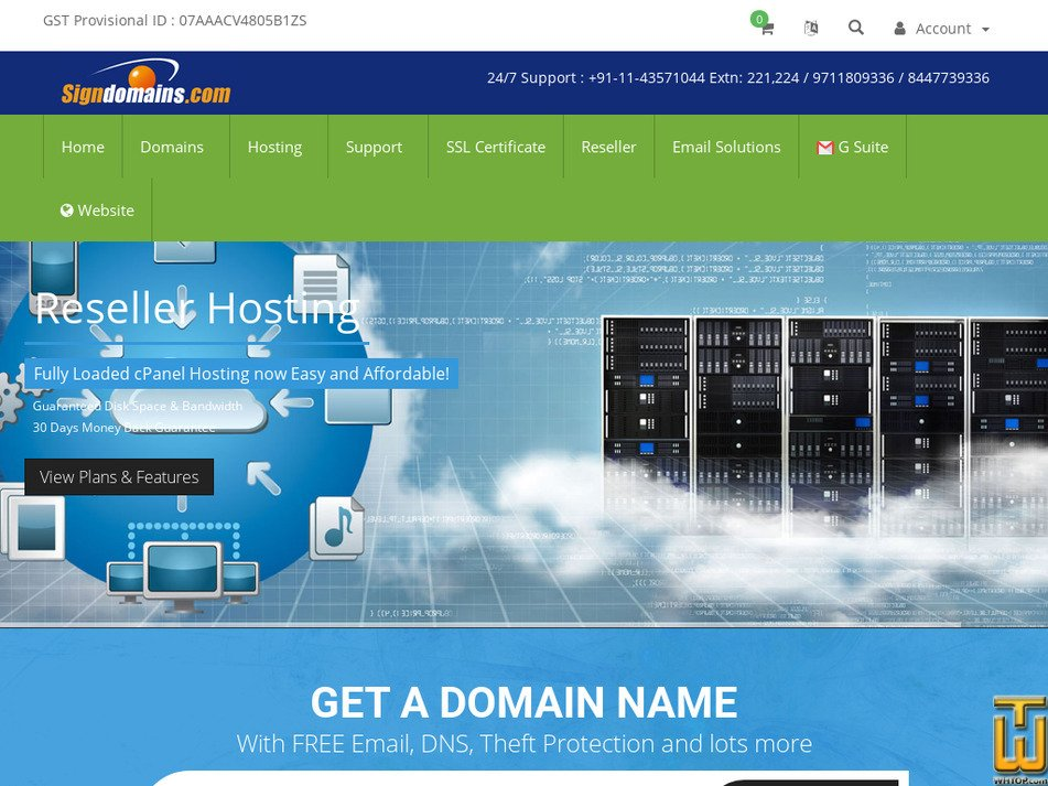 signdomains.com Screenshot