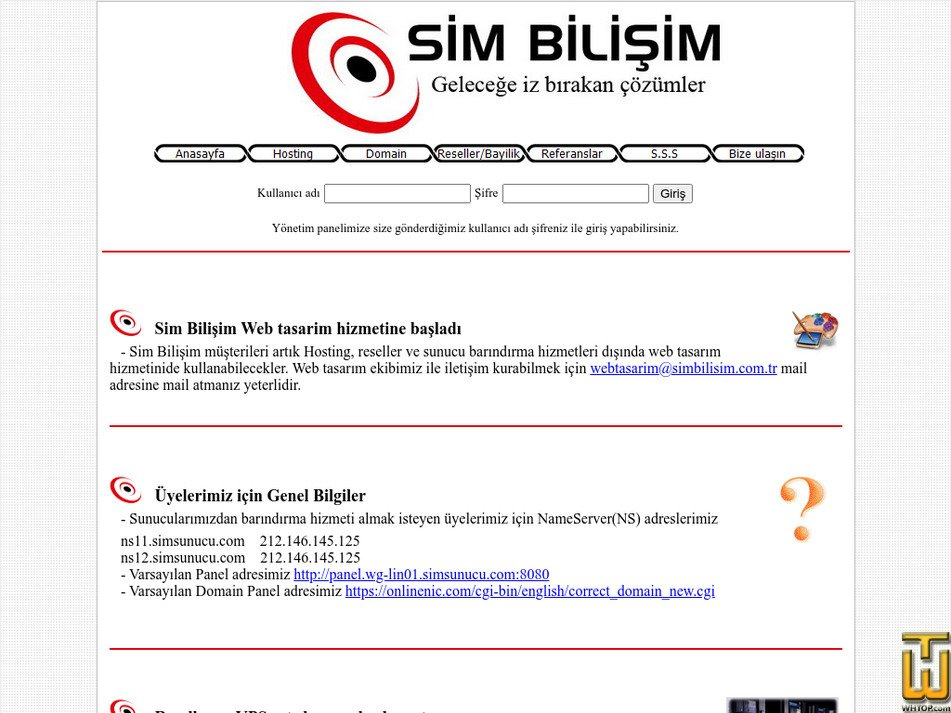 simbilisim.com.tr Screenshot