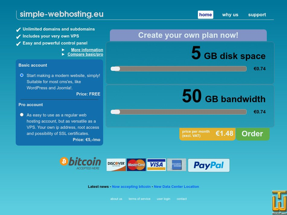 simple-webhosting.eu Screenshot