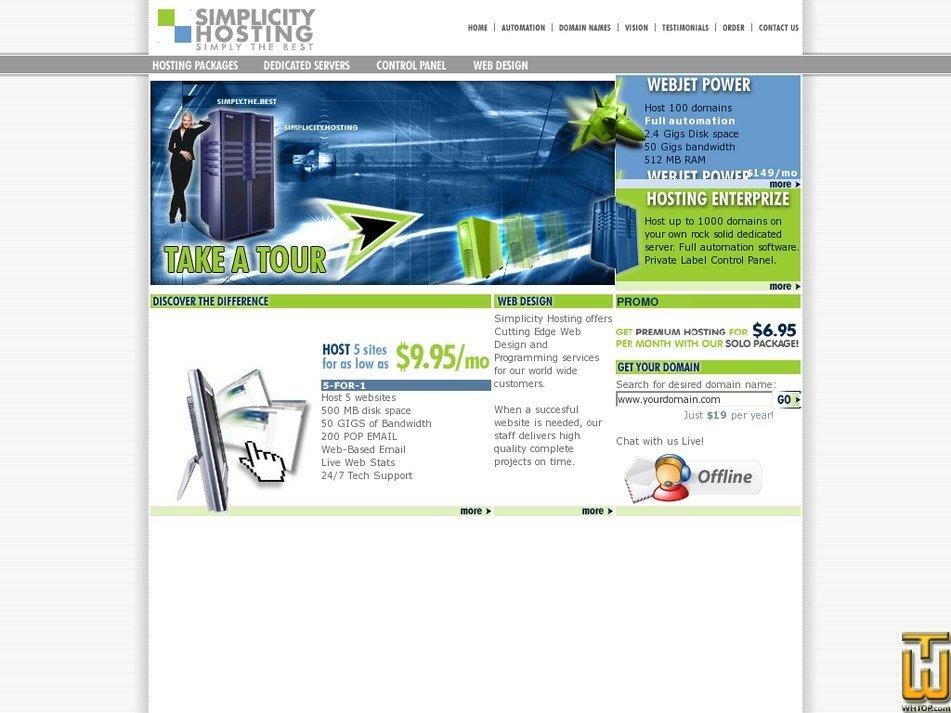 simplicityhosting.net Screenshot