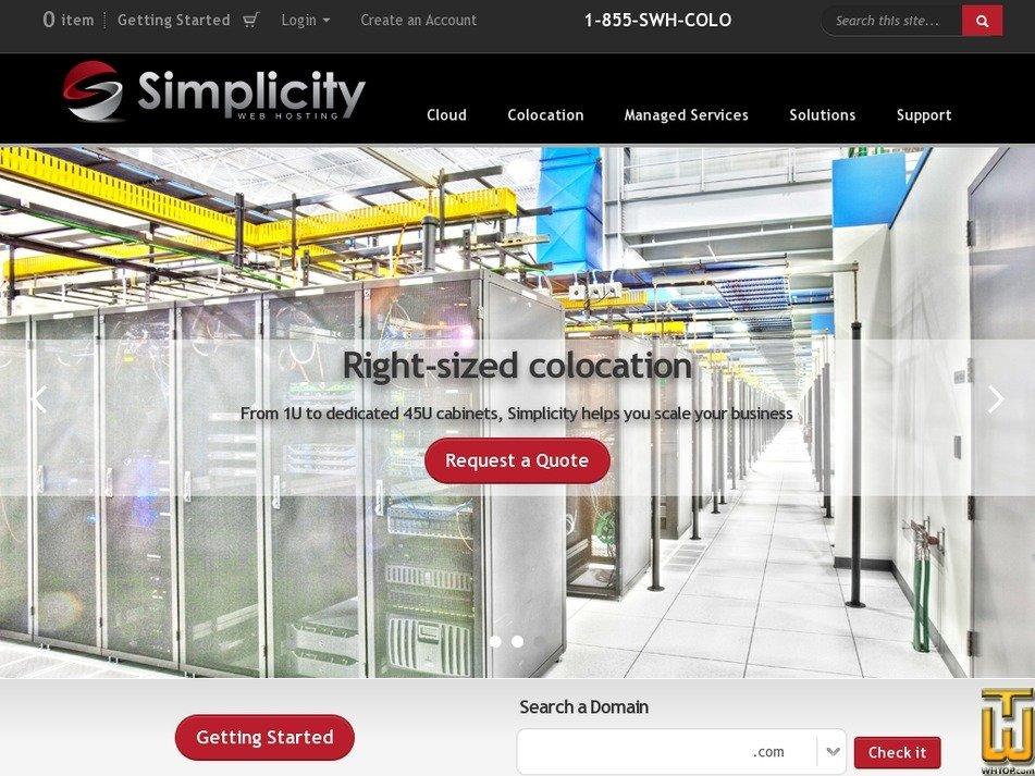 simplicitywebhosting.com Screenshot