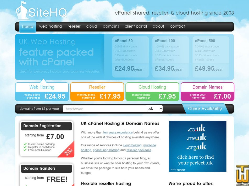 sitehq.com Screenshot