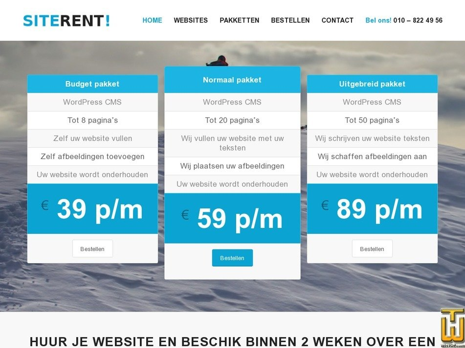 siterent.nl Screenshot