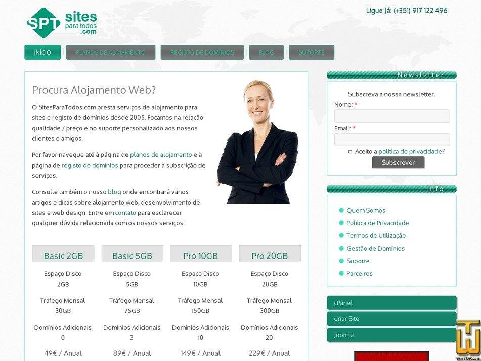sitesparatodos.com Screenshot