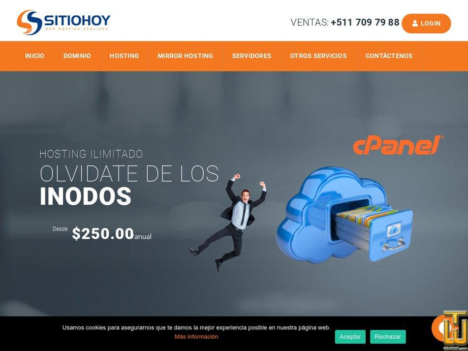 sitiohoy.com Screenshot