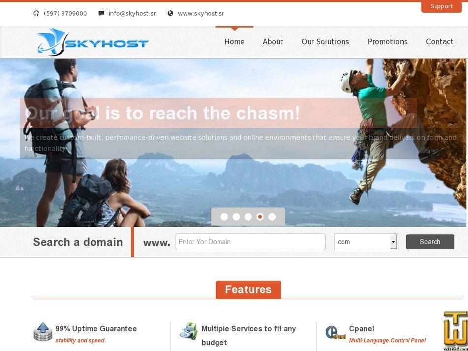 skyhost.sr Screenshot