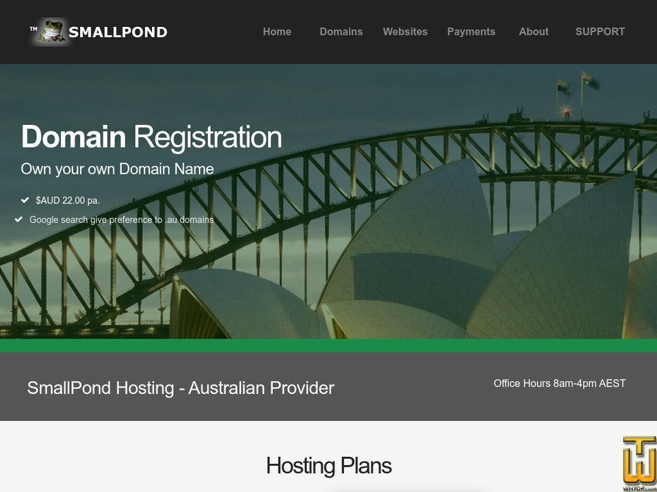 smallpond.com.au Screenshot