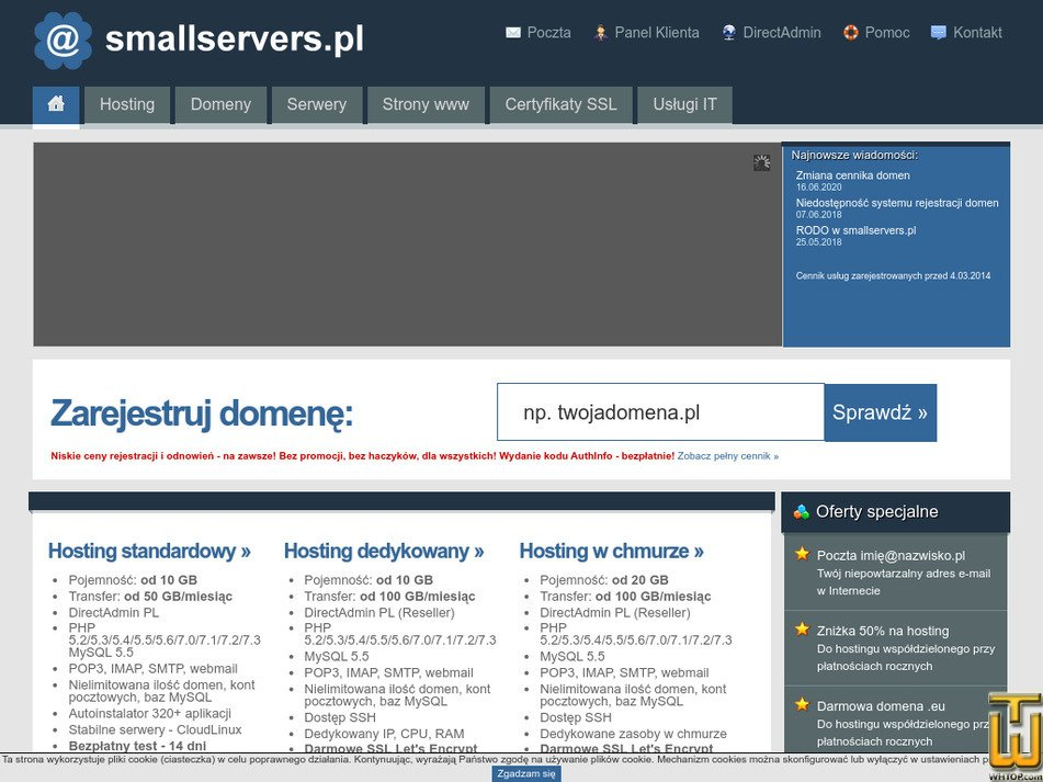 smallservers.pl Screenshot