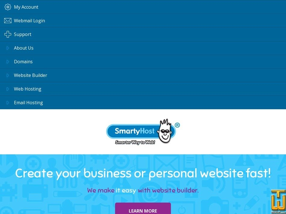 smartyhost.com.au Screenshot