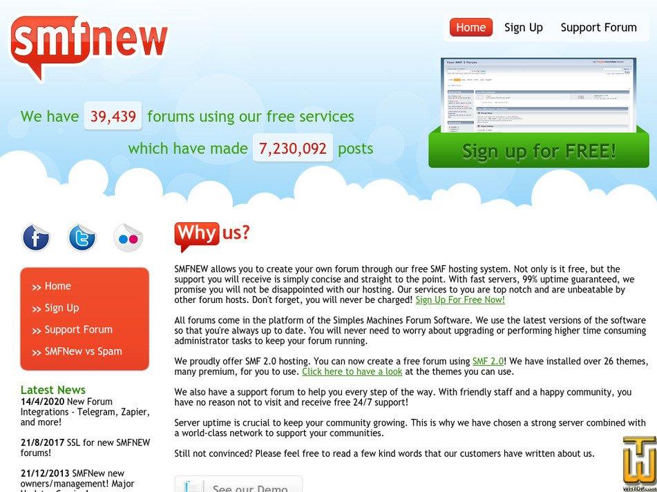 smfnew.com Screenshot