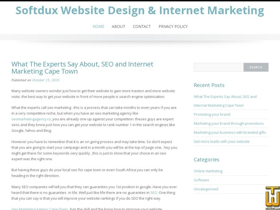 softdux.co.za Screenshot