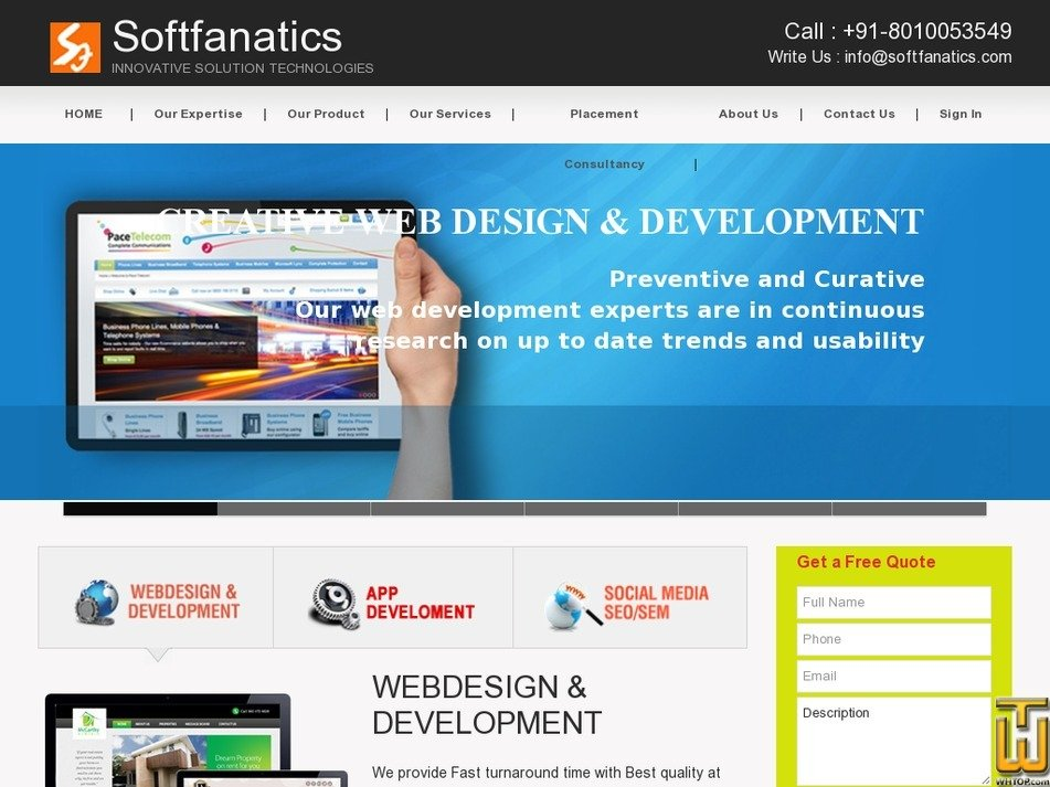 softfanatics.com Screenshot