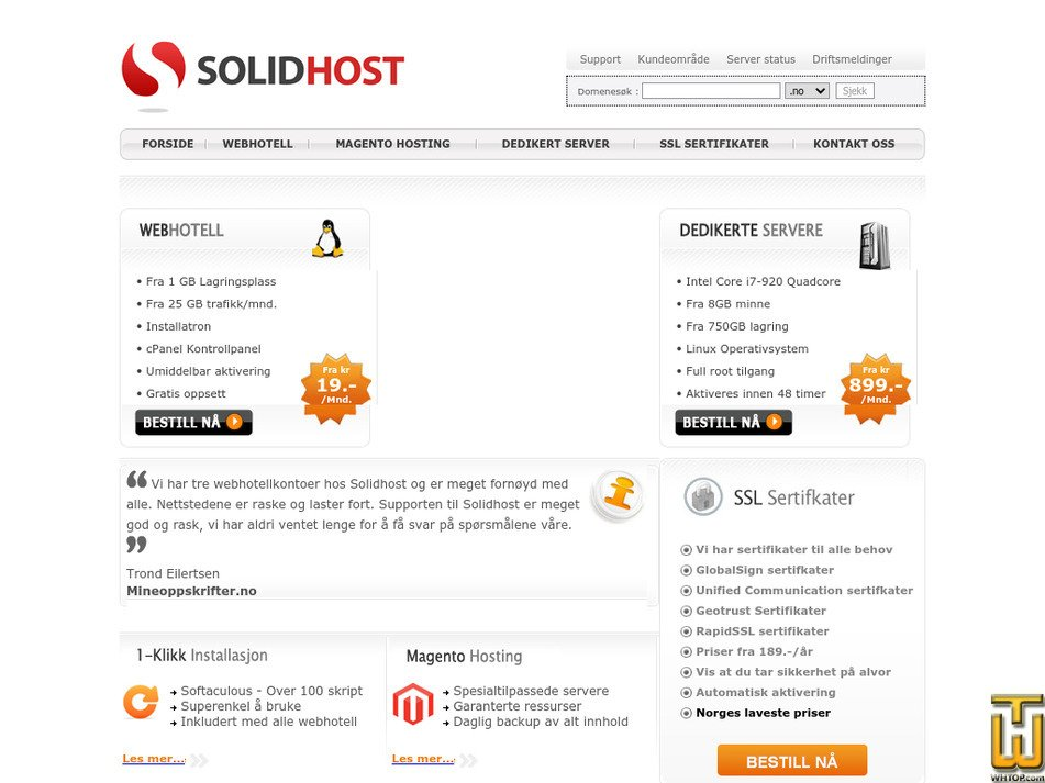 solidhost.no Screenshot