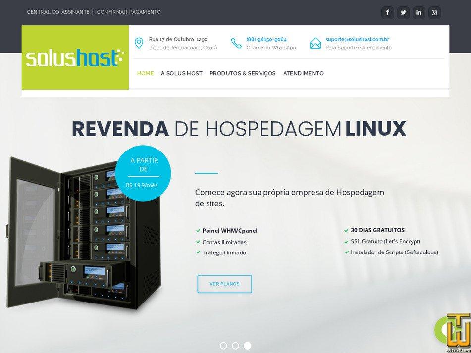 solushost.com.br Screenshot