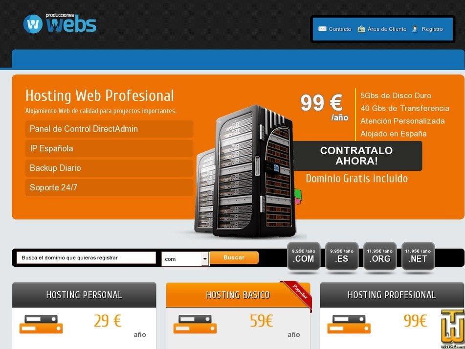 spahostings.com Screenshot